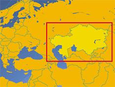 kazakhstan small map