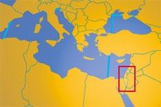 palestinian territories map